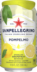 Italian Sparkling Drinks Pompelmo Blik